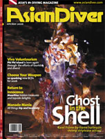 Cover shot Asian diver